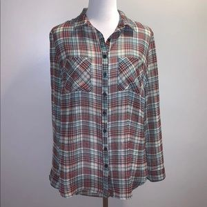 Xhilaration Plaid Blouse Size Small
